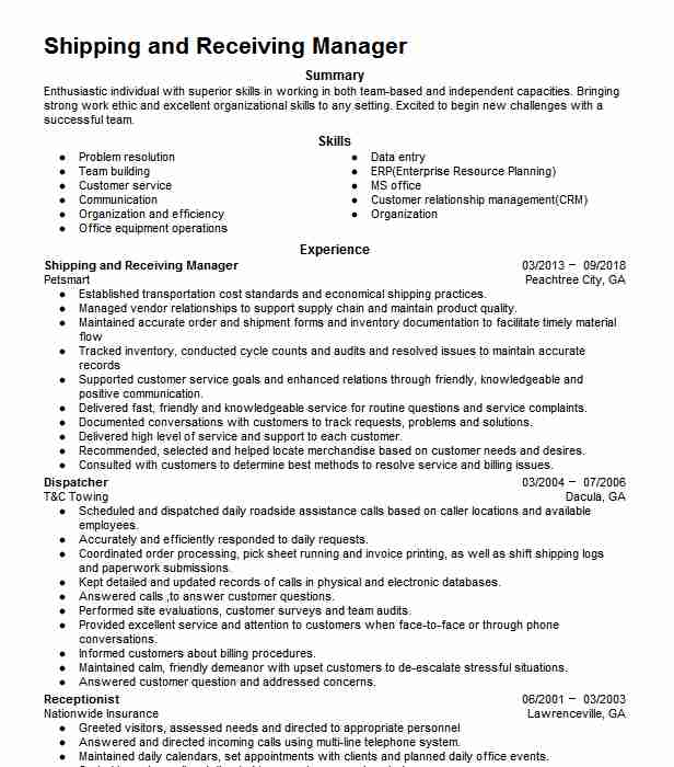 shipping receiving manager resume example nobelus hoffman estates another word for Resume Shipping Receiving Manager Resume