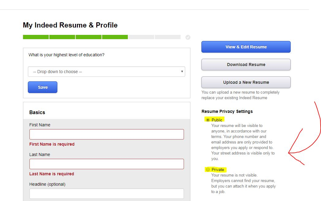 should you upload your resume on sites like indeed privacy tips headline making private Resume Headline On Indeed Resume