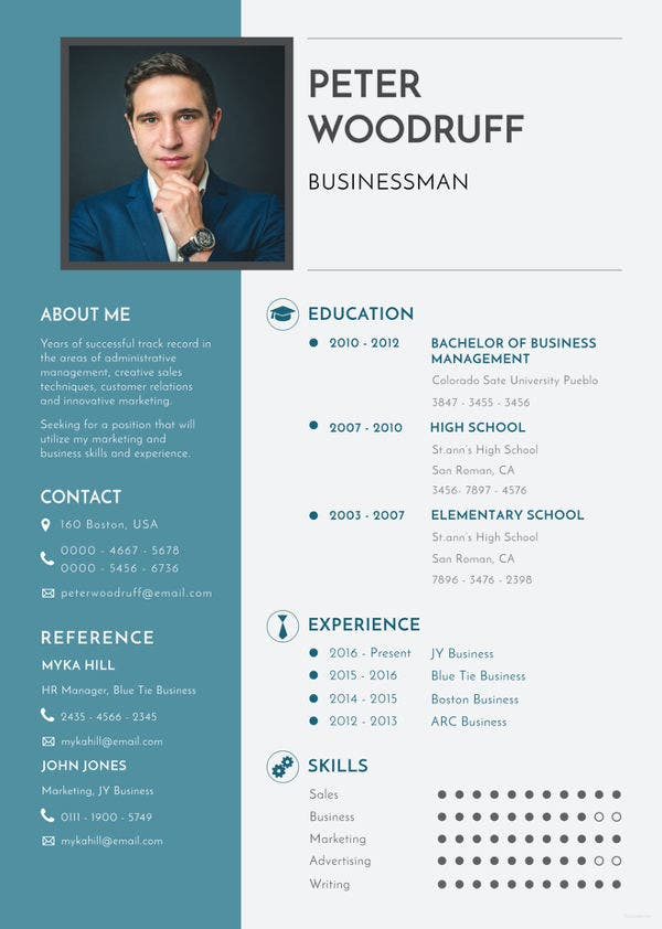 simple business resume templates pdf free premium template the position logistics analyst Resume Business Resume Template
