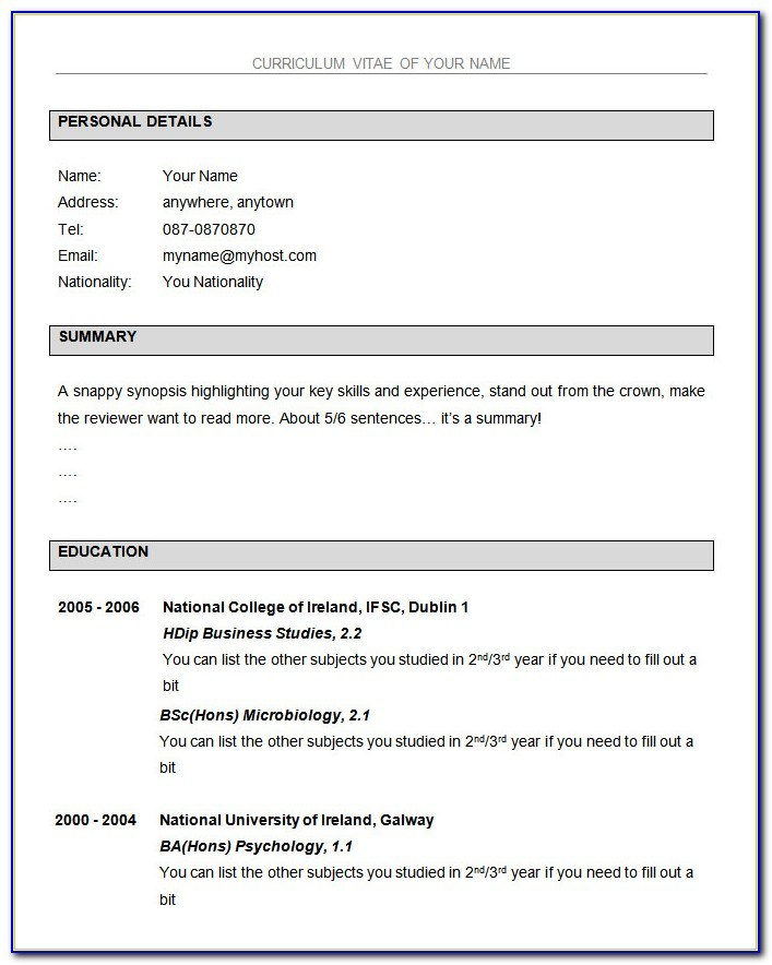 simple resume format for freshers free in ms word vincegray2014 with photo operations Resume Free Download Resume Format For Freshers With Photo