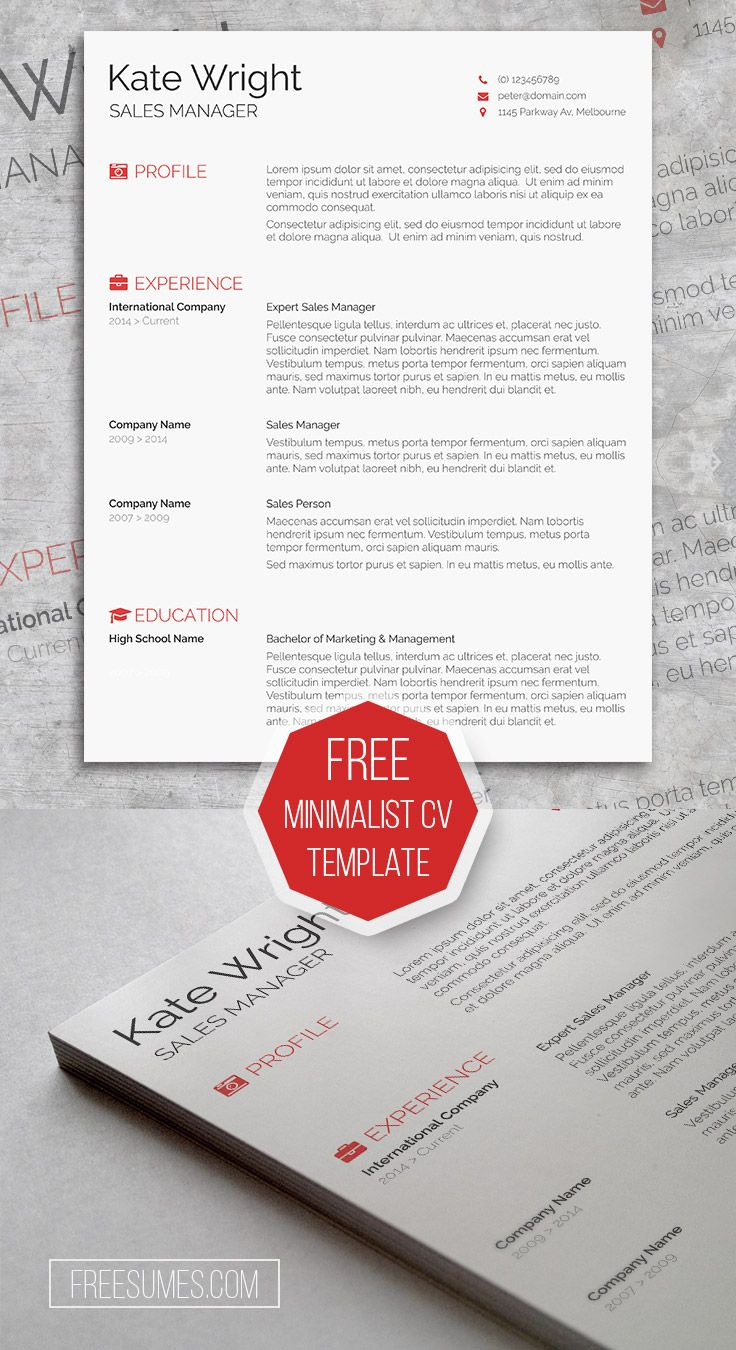 smart freebie word resume template the minimalist freesumes free sample objective for Resume Free Minimalist Resume Template Word