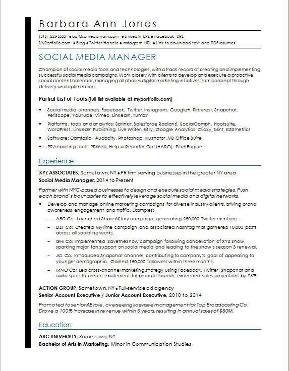 social media resume sample monster radio account executive manager incident and problem Resume Radio Account Executive Resume