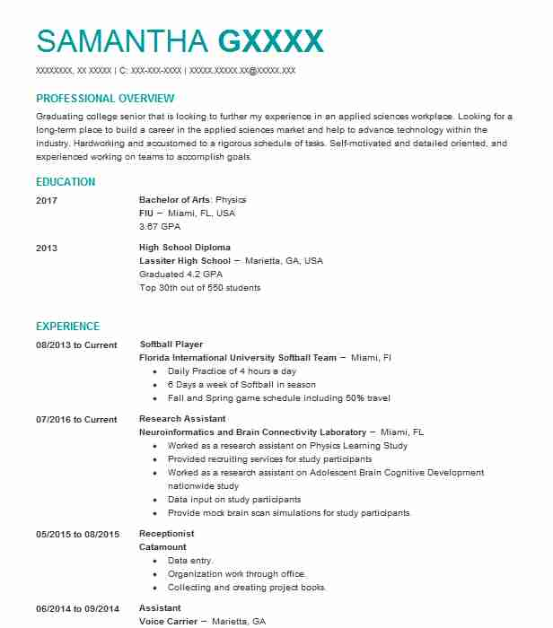 softball player resume example college athlete template summary examples for high school Resume Softball Resume Template