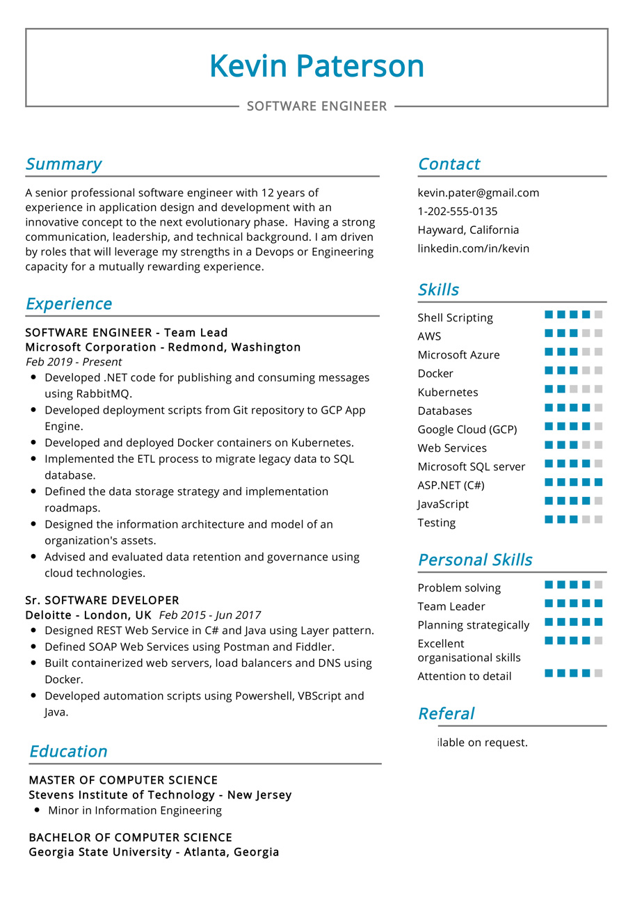 software engineer resume example cv sample resumekraft format for computer radio Resume Resume Format For Computer Engineer