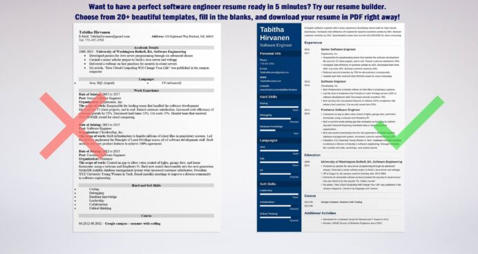 software engineer resume template developer examples good objectives for engineers mockup Resume Good Resume Objectives For Software Engineers