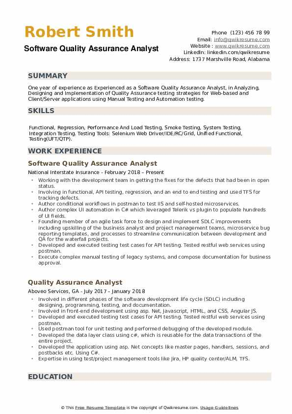 software quality assurance analyst resume samples qwikresume sample pdf for interview Resume Quality Assurance Analyst Resume Sample