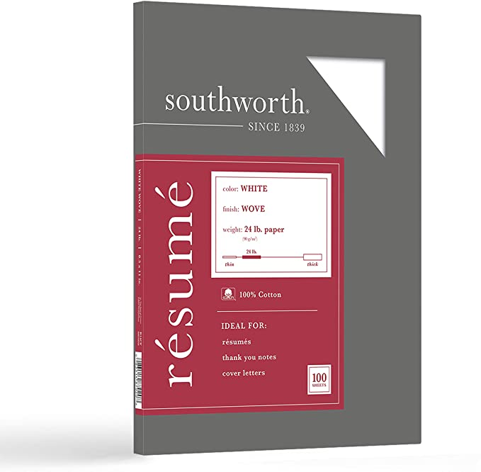 southworth resume paper lb gsm wove finish sheets packaging may vary r14cf sour14cf Resume Resume White Linen Paper