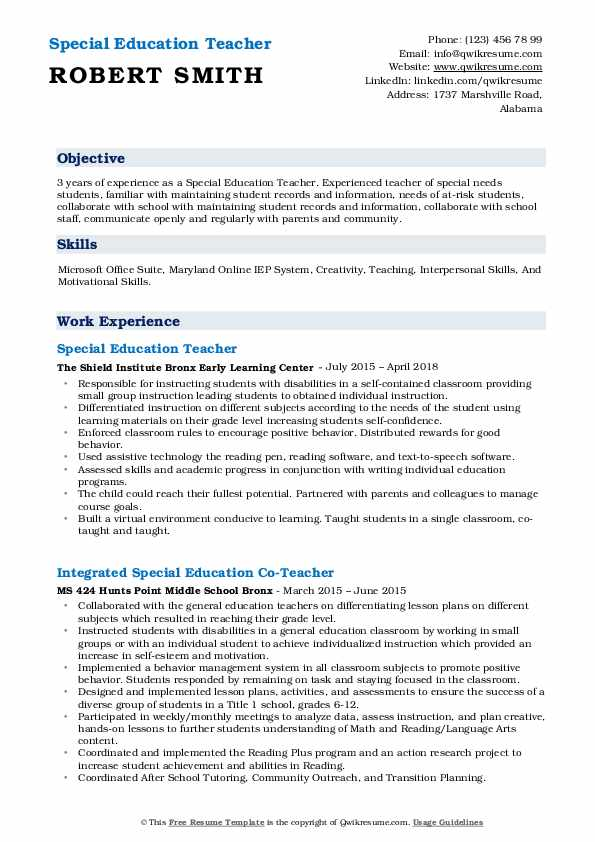 special education teacher resume samples qwikresume skills for pdf summary project Resume Special Education Teacher Skills For Resume