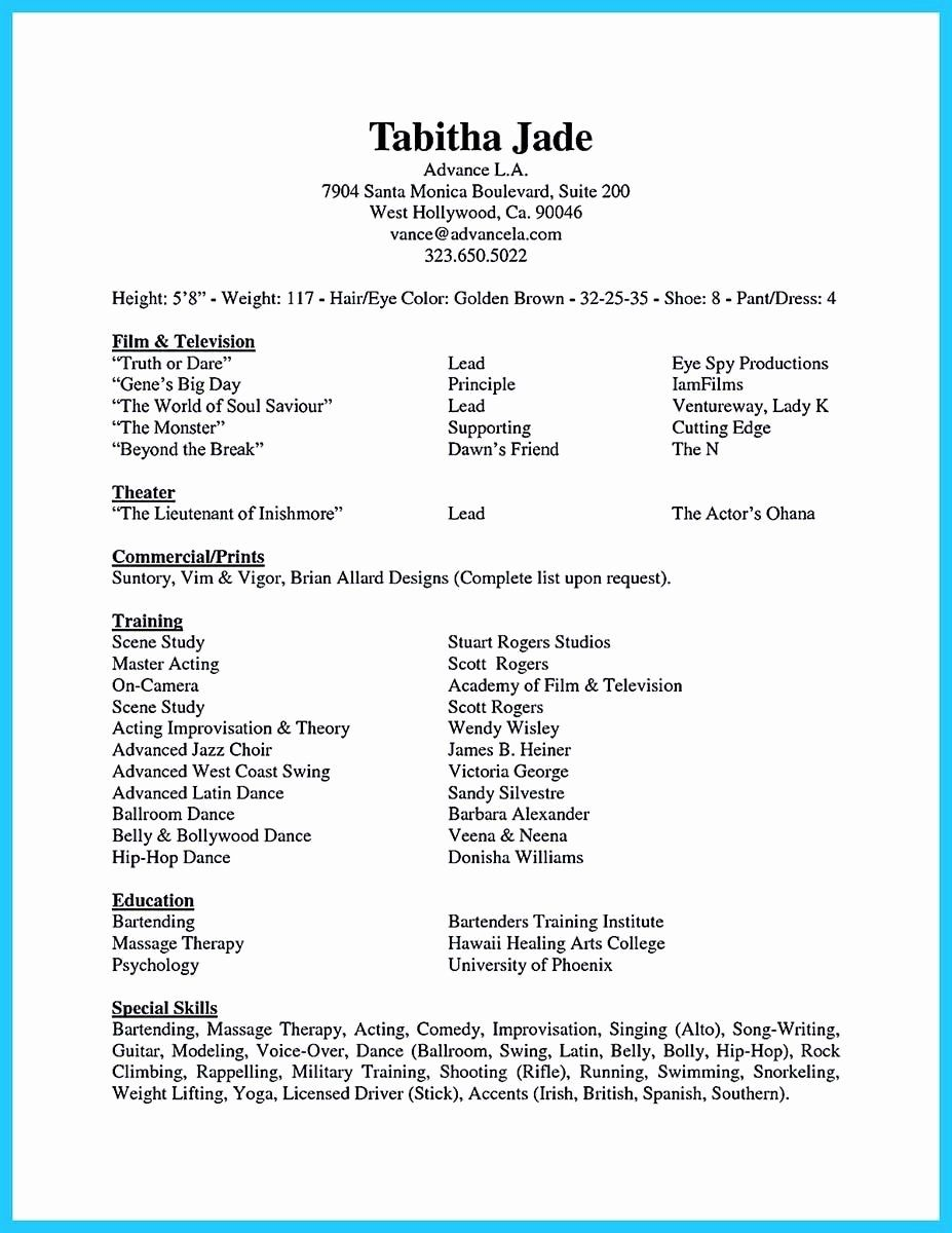 special skills for acting resume printable template hospital administrator electrician Resume Skills For Acting Resume