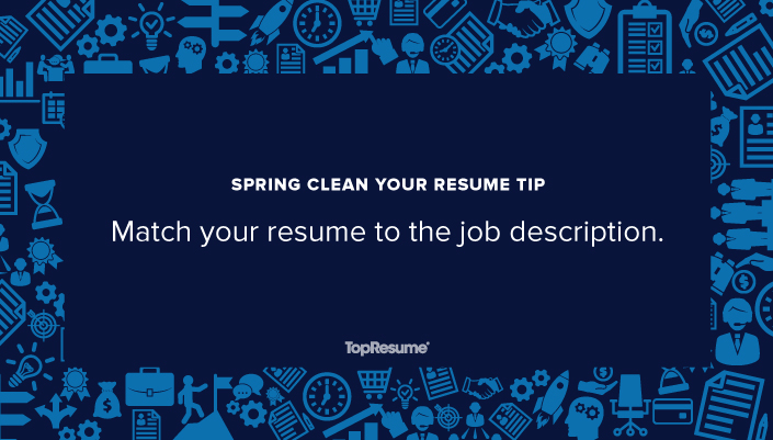 spring clean your resume match to the job description topresume matches this linkedin Resume Your Resume Matches This Job