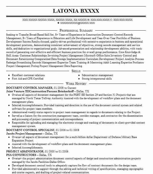 sr document control manager resume example dpr construction mountain view sample of Resume Document Control Manager Resume Sample