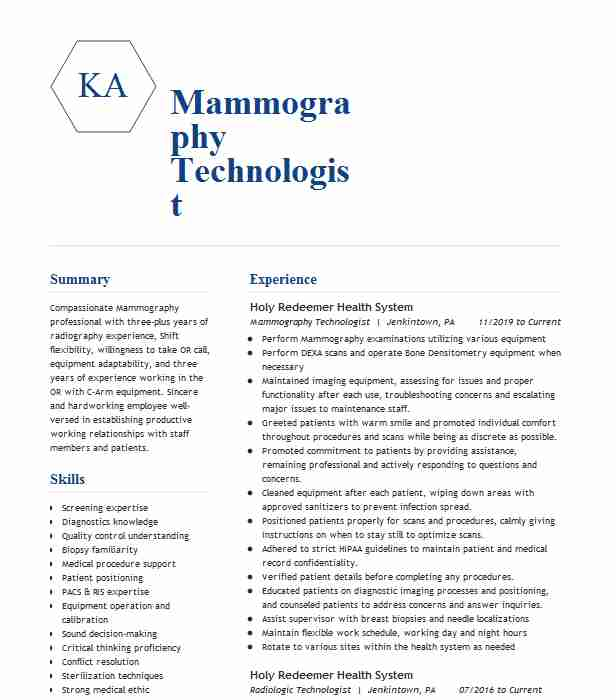 staff mammography technologist resume example radnet management westlake village examples Resume Mammography Resume Examples