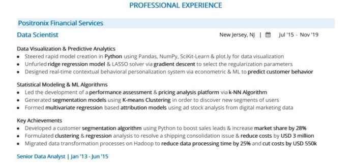 steps to job winning data science resume with python sharma stanford warehouse order Resume Data Science With Python Resume