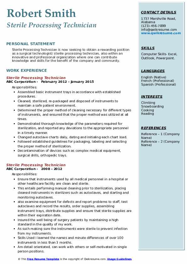 sterile processing technician resume samples qwikresume example pdf dermatology medical Resume Sterile Processing Technician Resume Example