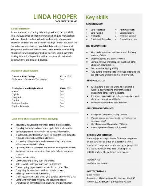 student entry level data resume template information technology examples pic format for Resume Entry Level Information Technology Resume Examples