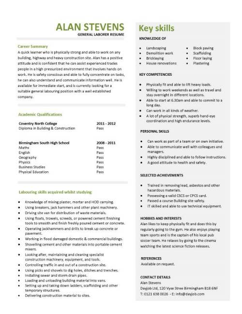 student entry level general laborer resume template job description for pic army soldier Resume General Laborer Job Description For Resume
