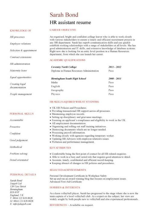 student entry level hr assistant resume template human resources skills pic strengths for Resume Human Resources Resume Skills