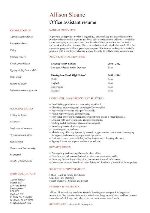 student entry level office assistant resume template pic columns dispatcher summary Resume Entry Level Office Assistant Resume