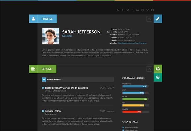super creative interactive resumes examples resume samples shiftcv accounting manager Resume Interactive Resume Samples