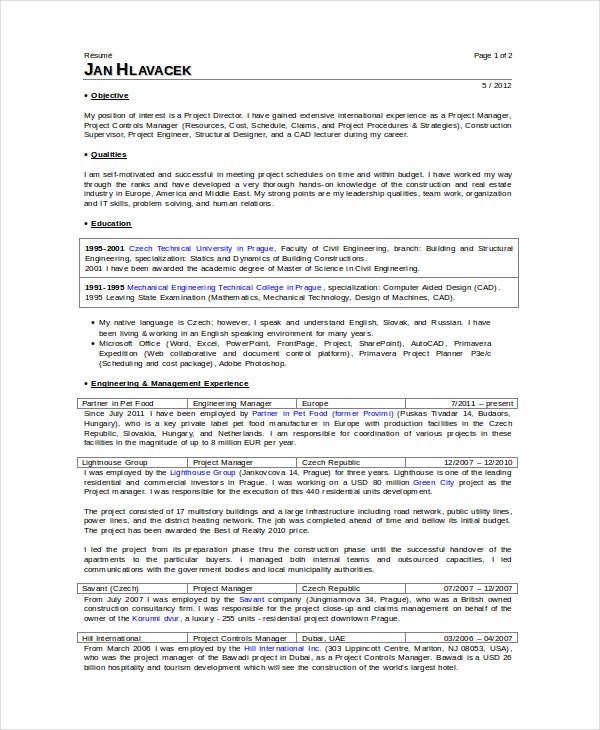 superintendent resume templates pdf free premium construction examples and samples great Resume Construction Superintendent Resume Examples And Samples