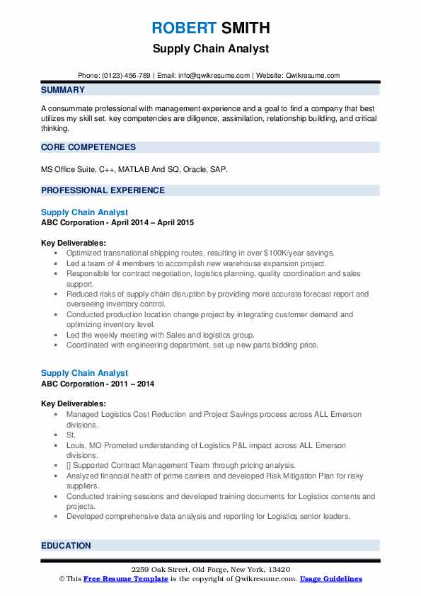supply chain analyst resume samples qwikresume pdf summary examples for waitress cura Resume Supply Chain Analyst Resume