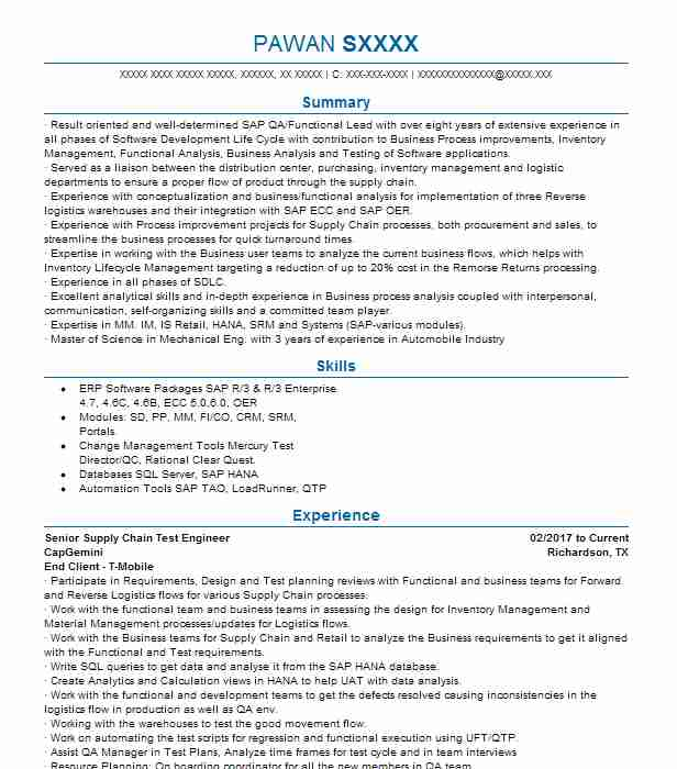 supply chain engineer resume example ryder systems inc smyrna best of for job application Resume Supply Chain Engineer Resume