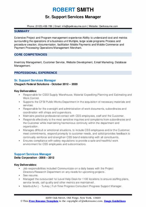 support services manager resume samples qwikresume pdf for high school student applying Resume Support Services Manager Resume