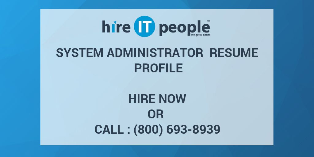 system administrator resume profile hire it people we get done symantec endpoint Resume Symantec Endpoint Protection Administrator Resume