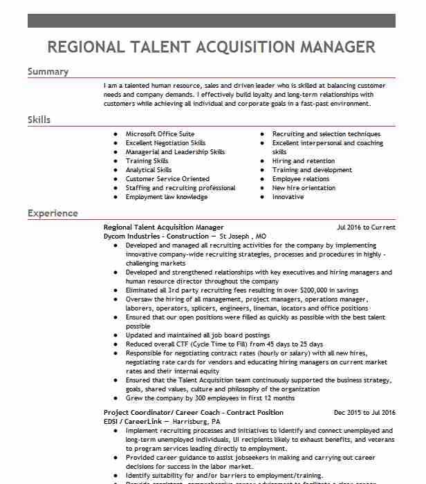 talent acquisition manager resume example rei systems inc ashburn psychology format Resume Talent Acquisition Manager Resume
