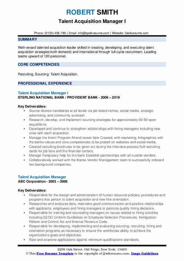 talent acquisition manager resume samples qwikresume pdf sample format bar example Resume Talent Acquisition Manager Resume