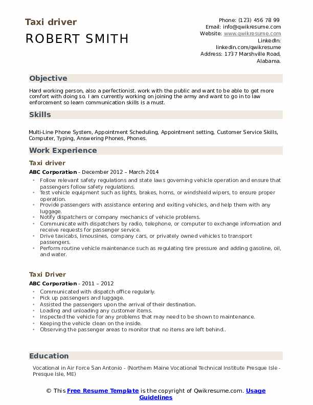 taxi driver resume samples qwikresume personal skills for pdf graphic design size special Resume Personal Driver Skills For Resume