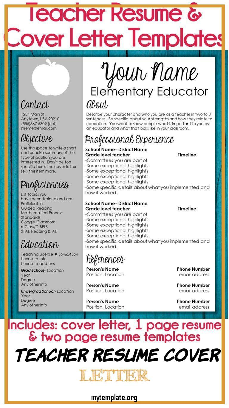 teacher resume cover letter free templates editable template of and globe accent pin Resume Editable Teacher Resume Template Free
