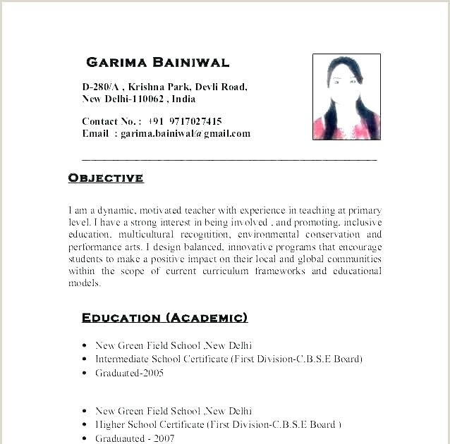 teacher resume format in word best examples primary school mba application objective Resume Primary School Teacher Resume Format