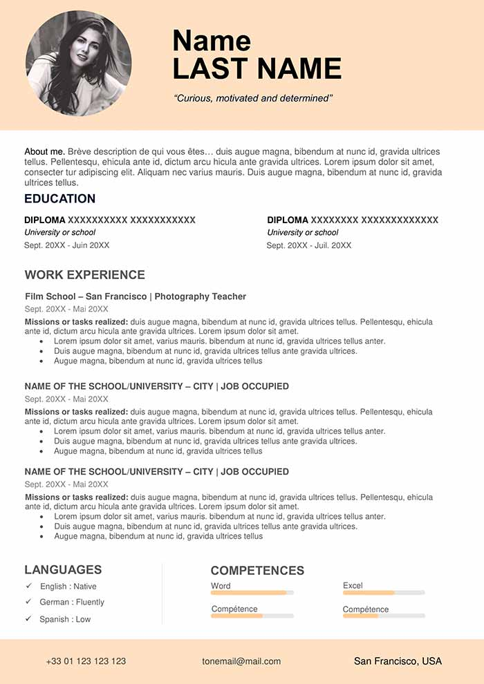 teacher resume sample free cv word format for teachers without experience front desk Resume Sample Resume For Teachers Without Experience