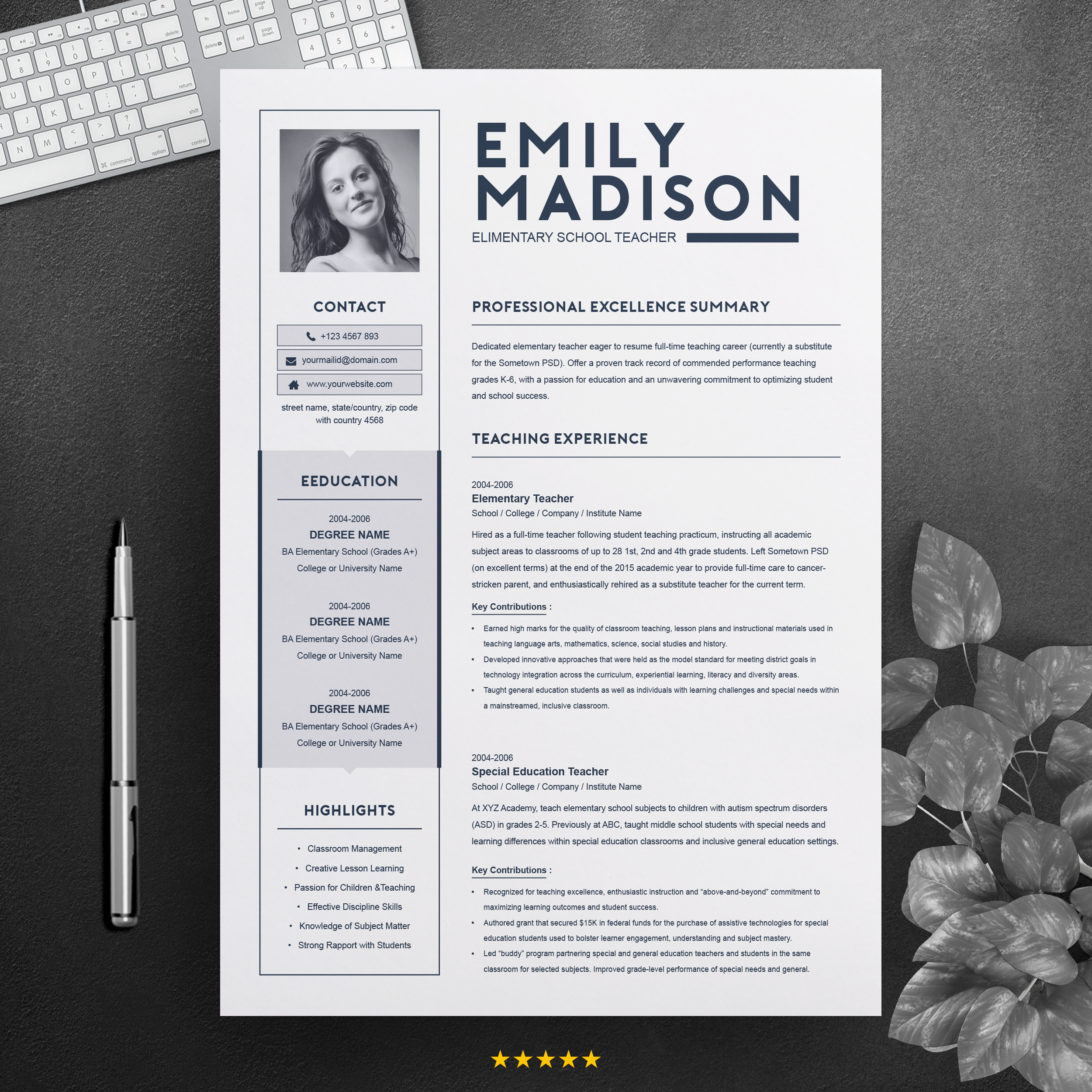 teacher resume template for ms word free resumes templates pixelify net design main image Resume Teacher Resume Template Free