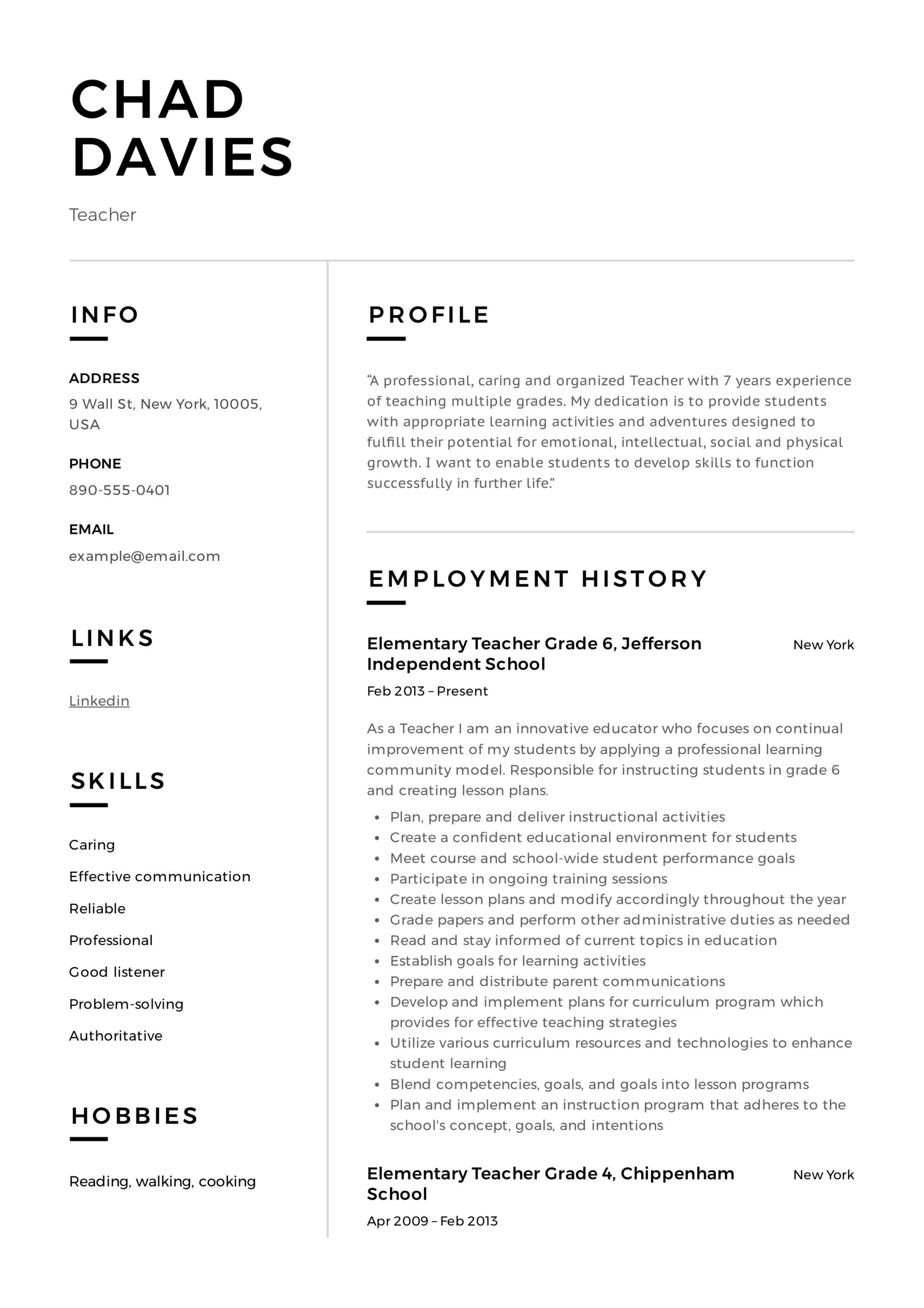 teacher resume writing guide examples pdf skills and abilities elementary sample high Resume Skills And Abilities Teacher Resume