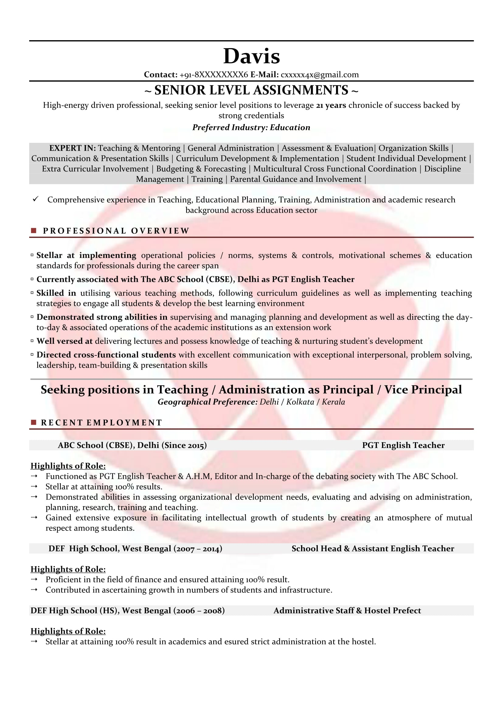 teacher sample resumes resume format templates fresher examples executive summary example Resume Fresher Teacher Resume Examples