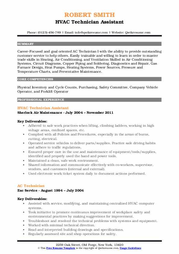 technician resume samples qwikresume for refrigeration and airconditioning mechanic pdf Resume Resume For Refrigeration And Airconditioning Mechanic