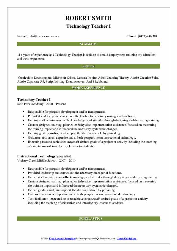 technology teacher resume samples qwikresume technologies tec pdf personality summary for Resume Resume Technologies Resume Tec