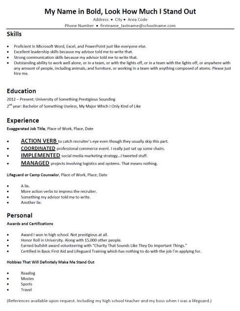 terribly typical mock resumes resume skills counselor job description for students Resume Mock Resume For Students