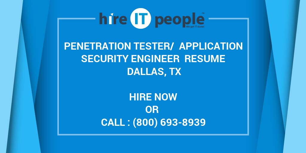 tester application security engineer resume tx hire it people we get done bus operator Resume Application Security Engineer Resume