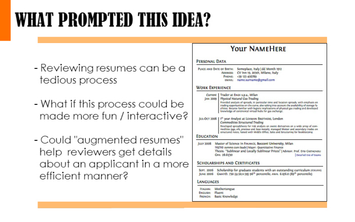 the augmented reality resume by rohit bhat at coroflot t9mb0sjvurpnn7e3wvae3nyyq network Resume Augmented Reality Resume