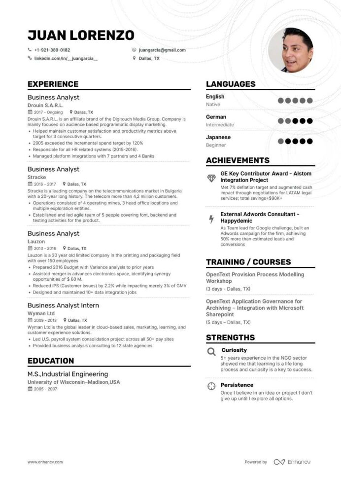 the best business analyst resume examples skills to get you hired sample for freshers Resume Business Analyst Resume Sample For Freshers