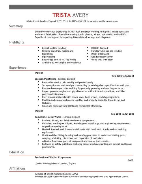 the best cv and cover letter templates in livecareer free resume welder construction full Resume Livecareer Free Resume Templates