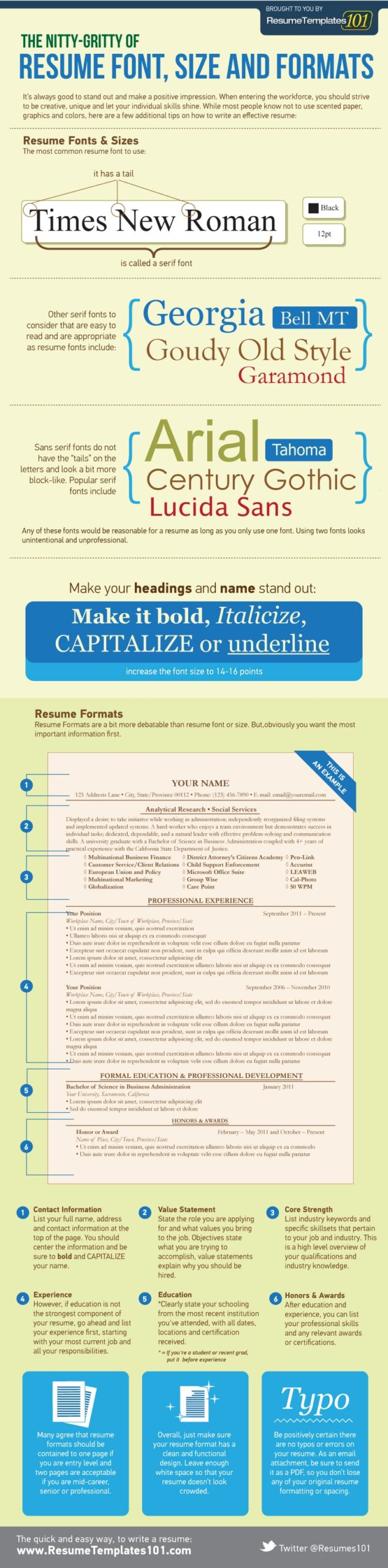 the best resume font size and format appropriate for fonts bachelor degree oracle Resume Appropriate Font For Resume