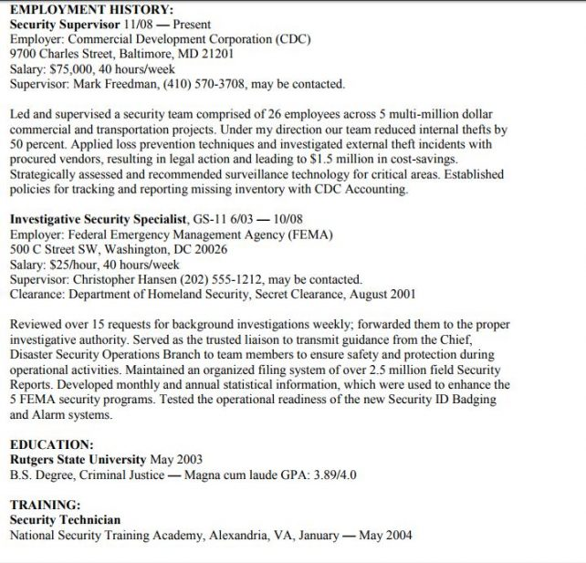 the difference between federal and corporate resumes examples zipjob resume example Resume Federal Resume Example 2018