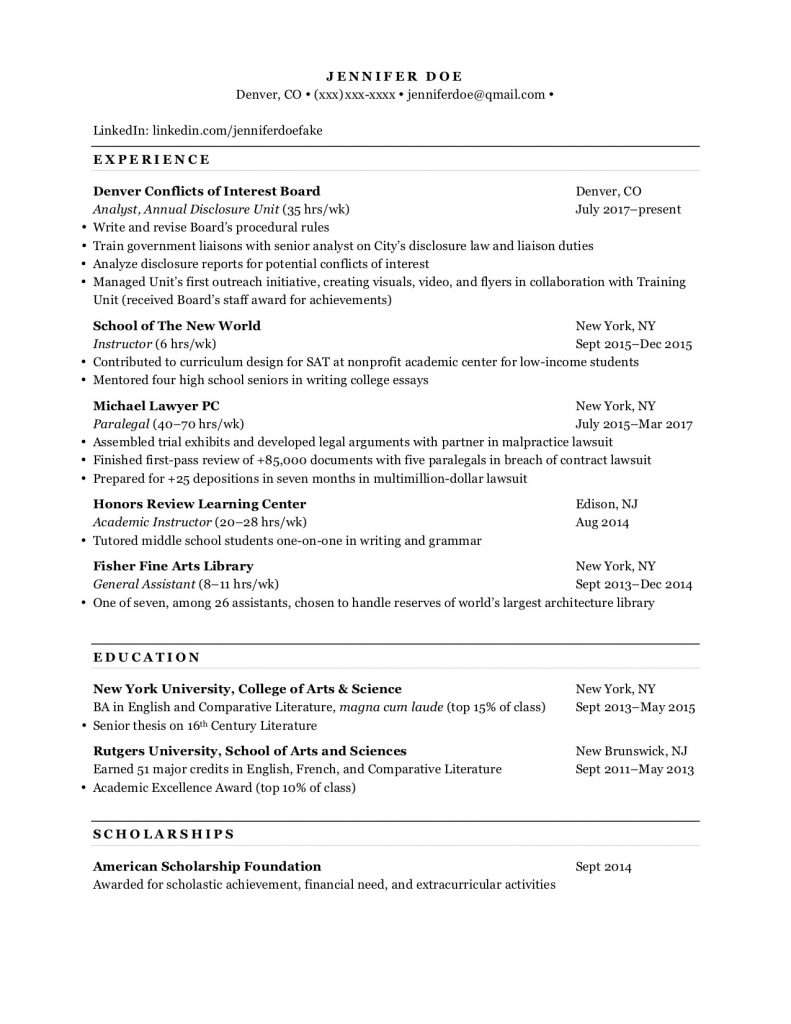 the guide to perfect law school resume with t14 admit example candidate lawschoolresume Resume Law School Candidate Resume