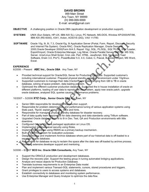 the oracle resume sample one in pdf for years manual testing writing nursing diamond Resume Oracle Dba Resume For 2 Years