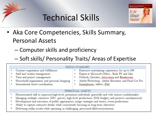 the personal assistant resume slides from recorded webinar assets for salon lesson plan Resume Personal Assets For Resume