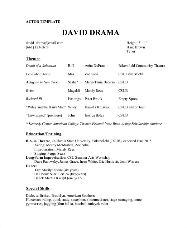 theater resume template free word pdf documents premium templates theatre director soccer Resume Theatre Resume Template
